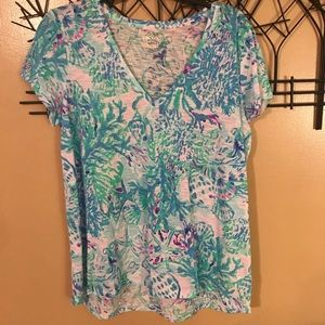 Lilly Pulitzer Etta top craysea size Large